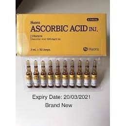 Korea Original Huons Ascorbic Acid Vitamin C ampoules 500mg/2ml