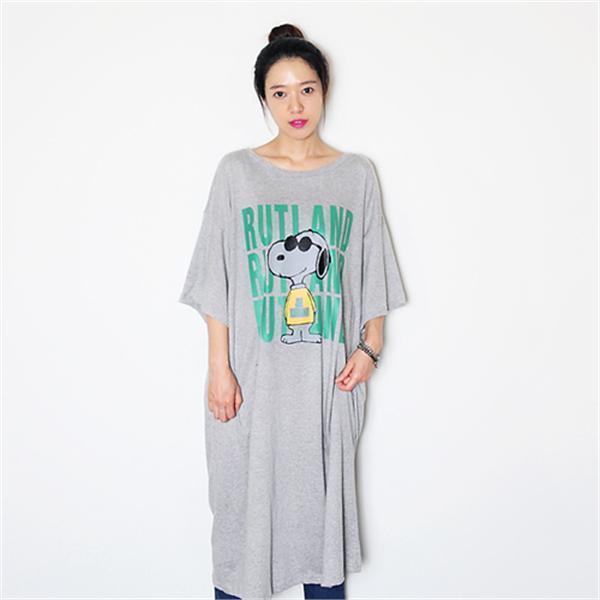 RUTIキャラクターロングボックスティーシャツ、ワンピースnew ロング/マキシワンピース/ワンピース/韓国ファッション