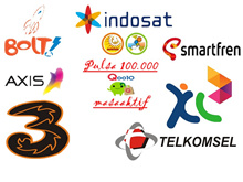 Pulsa Telkomsel / Indosat / Tri /XL / Axis / Bolt / Smartfren 100.000 + masa aktif