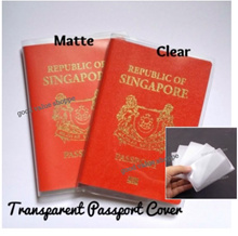 ★ Clear* Matte* Singapore Passport Cover Holder (with pocket) / NRIC Ezlink Credit Card Sleeves