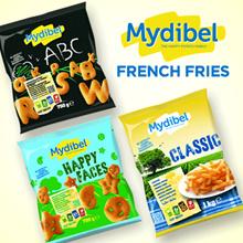 **Mydibel French Fries ** Shoestring/ Tradition / Clasic 1 KG /  Alphabet/ Happy Facesetc 750gr