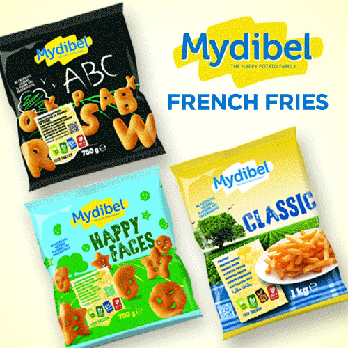 **Mydibel French Fries ** Shoestring/ Tradition / Clasic 1 KG /  Alphabet/ Happy Facesetc 750gr