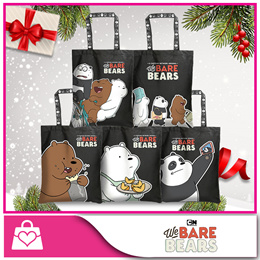 [We Bare Bears™] Canvas Tote Bag (Crossing the Road / Riding the Bicycle / Grizz / Panda / Ice Bear