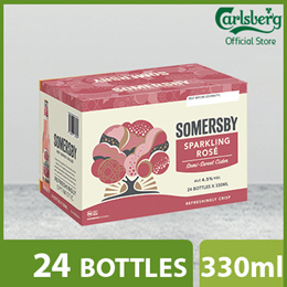 Somersby Sparkling Rosé Cider Bottle 330ml ( Pack of 24 )