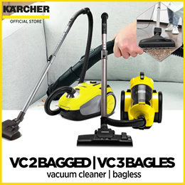 Kärcher yellow vacuum cleaner VC 2 bagged | VC 3 bagless with Kärcher warranty - with Free Filter