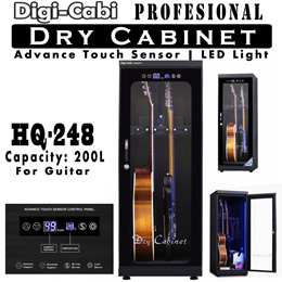 200L Digi Cabi HQ-248 200L Electronic Dry Cabinet for Guitars with LED Advanced Touch Panel