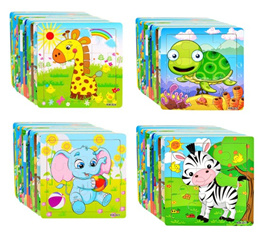 New! 9pcs Wooden Jigsaw Puzzle – Kids/Educational/Toys/Goodies/Birthday Gift/Christmas Gift