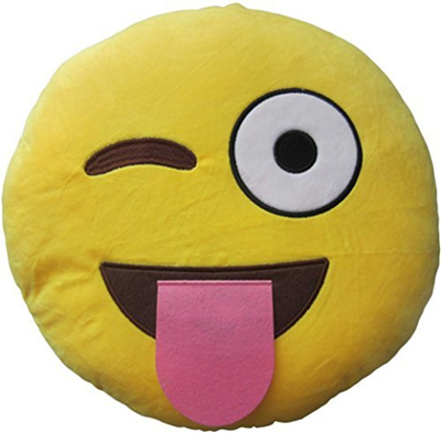 LeBeila New Emoji Pillow Big Smiley Happy Laughing Face Emoticon Cushion Prime 13 Inches Large Stuff