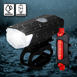 Bicycle Light Front And Rear Bike Accessories Rechargeable By USB