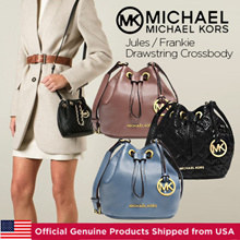 Michael Kors Jules/Frankie Drawstring Crossbody/Official Genuine Products Shipped from USA