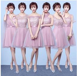 Bridesmaid dress short section 2017 new bridesmaid dress dress sisters regiment bridesmaid dress