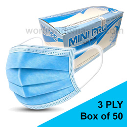 AXIMED Surgical Mask 3-Ply (Tie On) Type 25 / 50Pcs