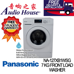 PANASONIC NA-127XB1WSG 7 KG FRONT LOAD WASHER ***1 YEAR PANASONIC WARRANTY***