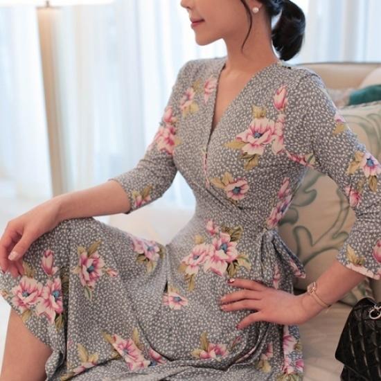 悪女日記】そらメリッサワンピース プリントのワンピース/ 韓国ファッション