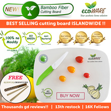 ecoWARE 18th RESTOCK [BEST SELLING CUTTING BOARD] Bamboo Fiber Chopping Board | Anti-bacteria