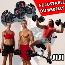 ★Adjustable Dumbbells Pair / Bench / Stand ★552 1090 ★Bench★Stand★Mat★Singapore Seller★★Fast Deliver