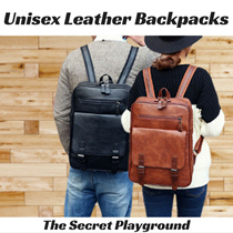 Unisex Leather Backpacks | Laptop Backpack for Travel School Casual Leisure