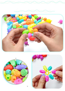 100pcs/set New Pop Beads Toys Snap Together Jewelry Fashion Kit DIY Educational Kids Craft Gifts