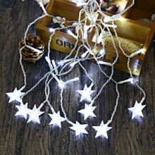 AC 110 - 220V 4M DROOP 0.6M STAR STRING FAIRY LIGHT CURTAIN ICICLE DECORATIVE LAMP (COOL WHITE LIGHT