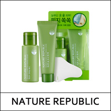 NATUREREPUBLIC (sg) Bamboo Charcoal Nose and T-zone Pack [2 Step] / Tonic Water Opening Toner 33ml + Nose and T-zone Pack 25ml / 초록