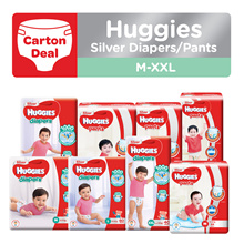 [1 CARTON] HUGGIES Silver Pants / Diapers - available in all sizes