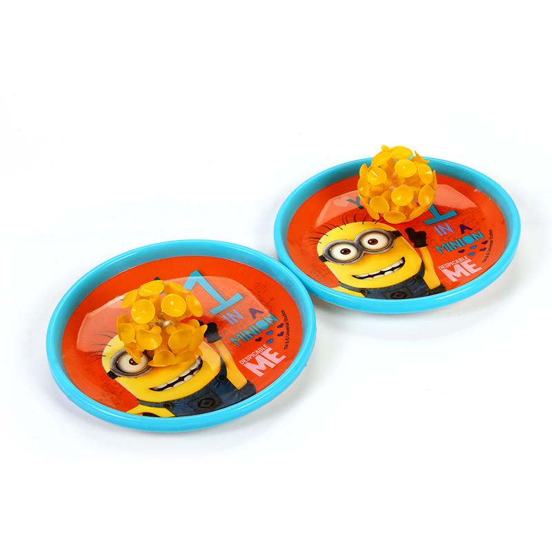 【Minions官方授權】小小兵兒童吸盤球套裝 兒童玩具 發光吸盤球 黏黏球親子遊戲 健身雙人投擲吸盤球
