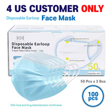 Ship from LA Office (Merry life) Disposable Earloop Face mask (FDA  Certified) (1+1=2box)