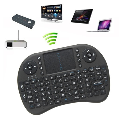 Mini 2 4GHz Wireless Keyboard Air Mouse Keyboard Remote Control Touchpad Of  Android TV BOX Black