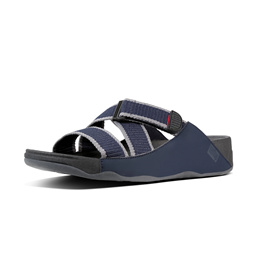 Fitflop Mens Slide Sandals Midnight/Navy Charcoal