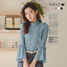TOKICHOI - Lotus leaf chiffon shirt--181829-Winter