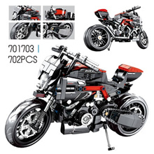 Technic Motorcycle Exploiture Model Sport Bike Vehicle Building Comp 378pcs