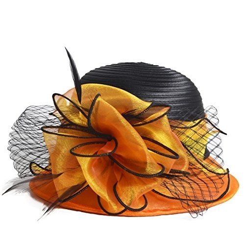 5bc6c4ba607 fit to viewer. prev next. Kentucky Derby Dress Church Cloche Hat Sweet Cute  Floral Bucket ...