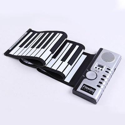 KONIX KEYS PORTABLE SILICONE ROLL-UP DIGITAL PIANO SOFT KEY MIDI KEYBOARD  WITH SPEAKER COM