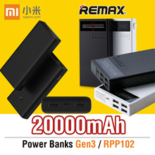 Remax rpp-102!!🌟100%Authentic Xiaomi 🌟10000mAh/20000mAh 🌟Powerbank Fast Charger Powerbankxiaomi