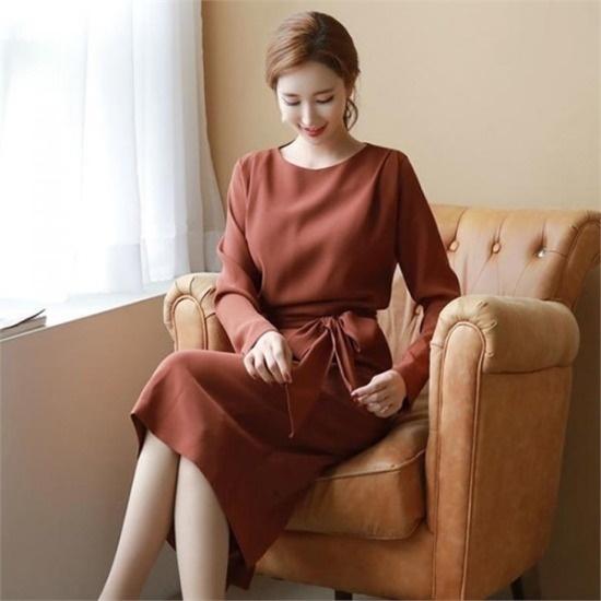 スタイルオンミ行き来するようにスタイルオンミのジュリア・結び目ワンピース スーツワンピース/ 韓国ファッション