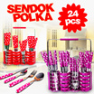[ BEST ITEM !! ]  SENDOK POLKADOT SET 24pcs- PERSEDIAAN TERBATAS !!!