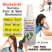 Foot And Shoe Deodorizer 100ml - 100% Natural Ingredients.
