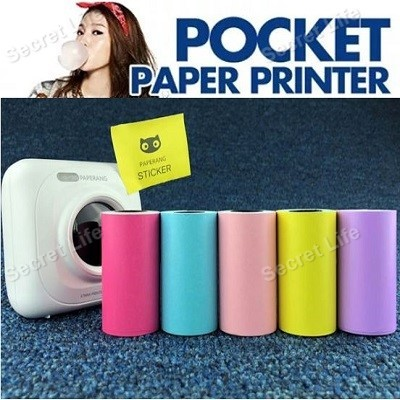 5 Roll Printing Sticker Paper Adhesive Pocket Photo Paper for Paperang Printer