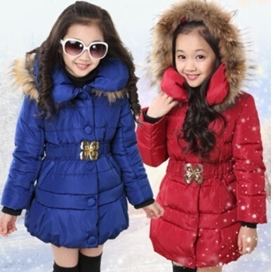 Qoo10 - Girls Winter Long Cotton Thick Coat、 For 5 to 14 Years Old ... 359693517f