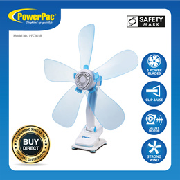 PowerPac Electric Clip Fan with Silent motor (PPC603B)