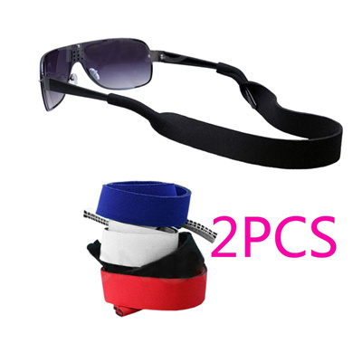 a3e649aebff 2pcs Sunglasses Band Strap Stretchy Sports Running Band Neoprene Spectacle  Glasses Strap Holder