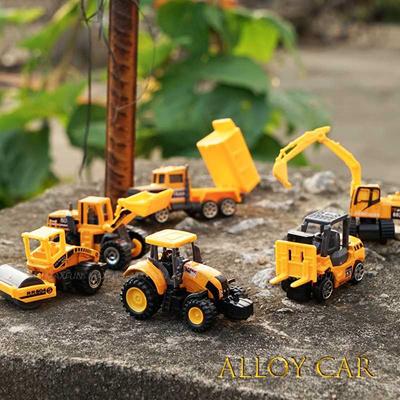 sale 6PCS/lot Mini Diecast Construction Vehicle 7 Styles Model Metal toys  Cars Tractor Toy Dump Truc