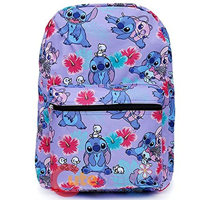 "Disney Frozen Elsa /& Anna Purple Allover Print 16/"" Girls Large School Backpack"