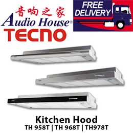 TECNO 90cm Kitchen Hood / TH 968T / TH 978T / Twin motor Slim line 550m³/hr
