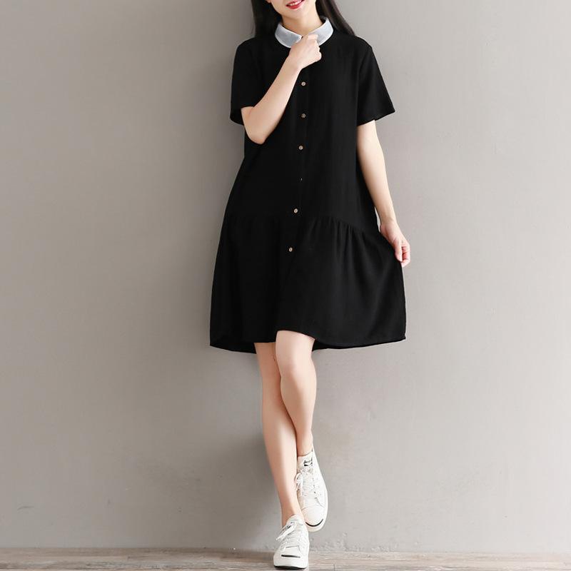 新作  韓国ファッション ワンピース  レディース   ゆったり感  シャツ ワンピース    大人気   着痩/   D7080182