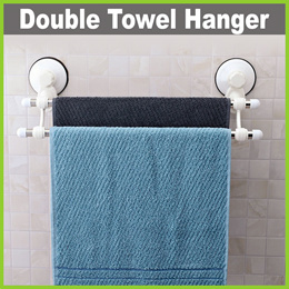 ★ Bathroom Double Towel Hanger ★ Available in 2 Sizes! (47/61cm) Removable - Easy Installation!
