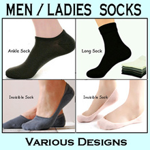 ★Buy 5 Get 1 Free★ Men / Ladies Sock / Bamboo / Cotton / Aloe / Invisible Boat Ankle Long Sock