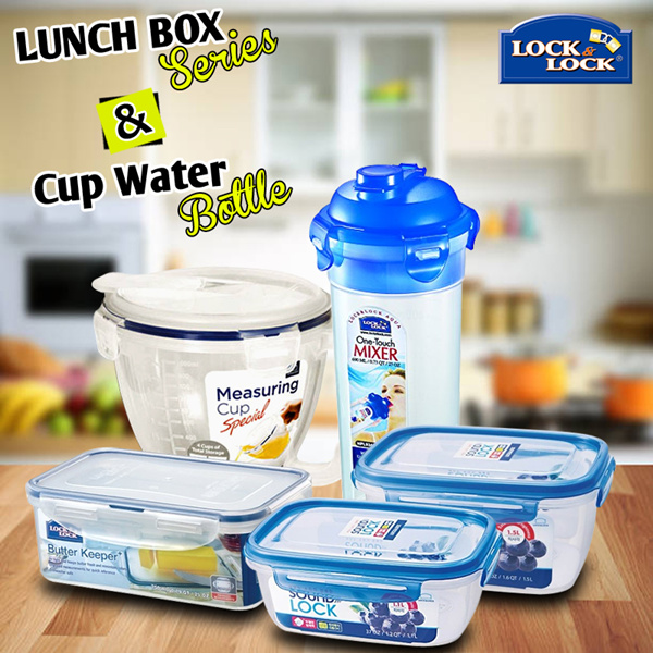 LocknLock Lunch Box and Water Muc Bottle Deals for only Rp35.000 instead of Rp35.000