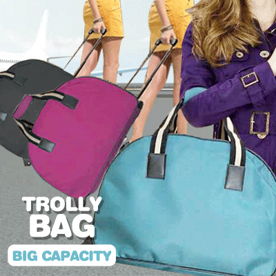 TODAY PROMOTION!TROLLY BAG . BIG CAPACITY . TAS TROLLEY HIGH QUALITY! Deals for only Rp199.000 instead of Rp199.000