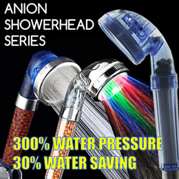 Purifying Filter Anion SPA Mist Showerhead LED Water Saving Conservation Strong Holder
